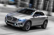 Video Projecting Laser Headlights - This New Mercedes GLA Can Project a Movie From its Headlights