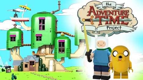 Cartoon Building Block Concepts