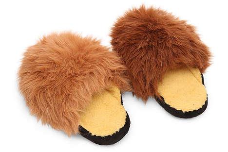 Furry Sci-Fi Slippers