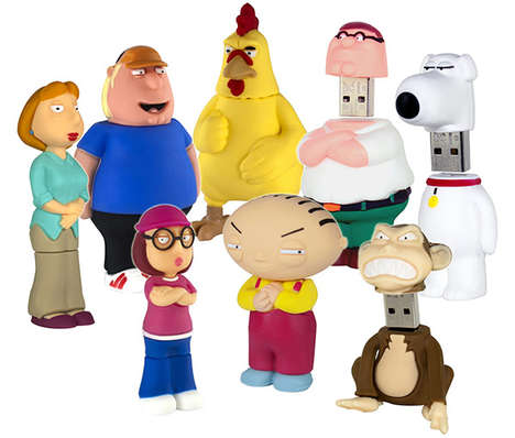Cartoon Family Flash Drives - These USBs Amazingly Resemble the Characters from Family Guy
