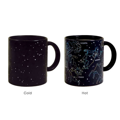 Transitioning Planetary Cups - The Constellation Mug Showcases Different Images as it Heats Up