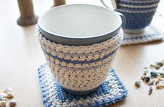 DIY Crocheted Mug Holders - This Easy-to-Make Design Lets You Enjoy Your Hot Drinks with Ease