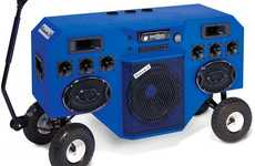 Handcart Ghetto Blasters - The Mobile Boombox Soundsystem Transports Beats on the Go