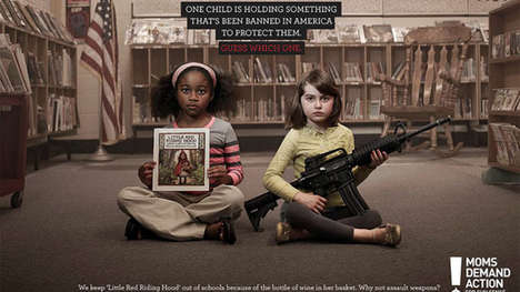 Unorthodox Gun Control Ads - The 'Mother's Demand Action' Group Compares the Danger of Books to Guns
