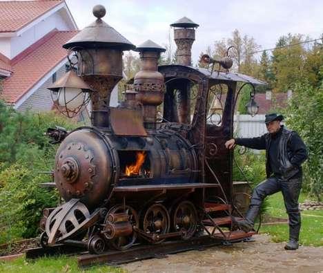 Steampunk-Inspired Train Grills