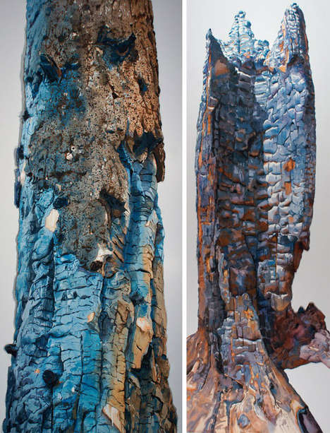 Beautiful Scorched Bark Art