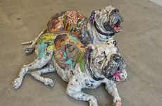 Paper-Made Pooch Sculptures