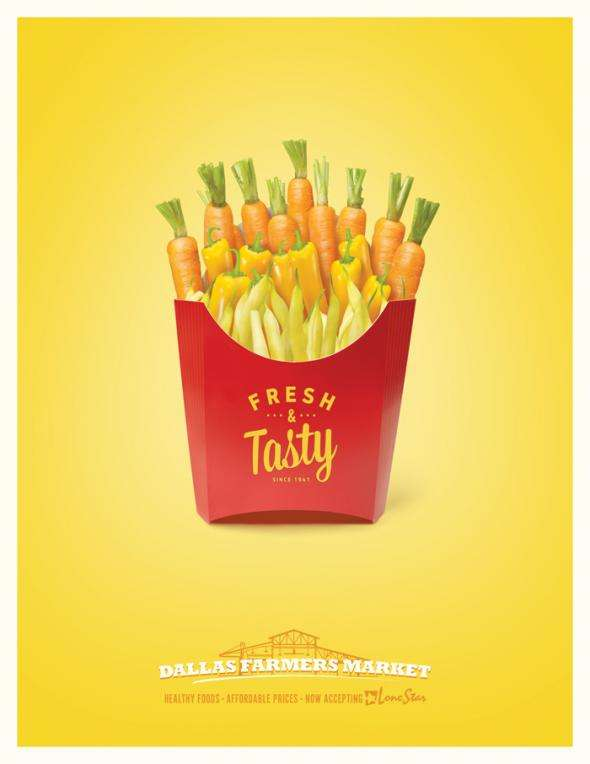 Fresh Processed Food Ads