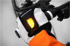 Nocturnal Light-Alerting Gloves - LED Bike Lights are Infused into Gloves for Added Safety