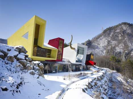 Moon Hoon Creates a Trippy Hillside Cabin for a Korean Rockstar