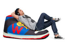 Oversized Shoe Seating - This 'Woouf!' Sneaker Bean Bag is Modeled After a Gigantic High Top