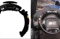 Drummable Steering Wheels - This Kooky Invention Lets Drivers Turn Steering Wheels into Drum Pads