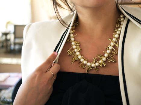 DIY Office Accessory Necklaces