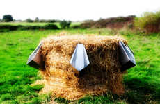 Hay Bale Bathrooms - The Eco l'Uritonnoir Combines Urine and Old Straw to Produce Compost