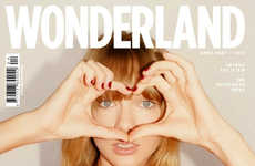 Carefree Songstress Covers - Taylor Swift for Wonderland April/ Showcases Her Young Attitude