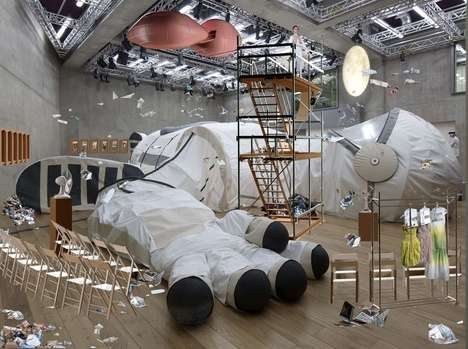 Giant Space Suit Installations