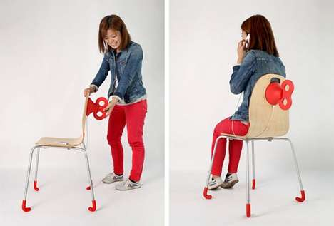 Cartoonish Cell-Charging Chairs