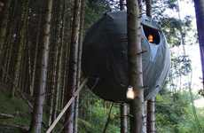 Suspended Spherical Campers - The Orb Shaped Tree Tent Dwelling by Luminair Remixes Tree Houses