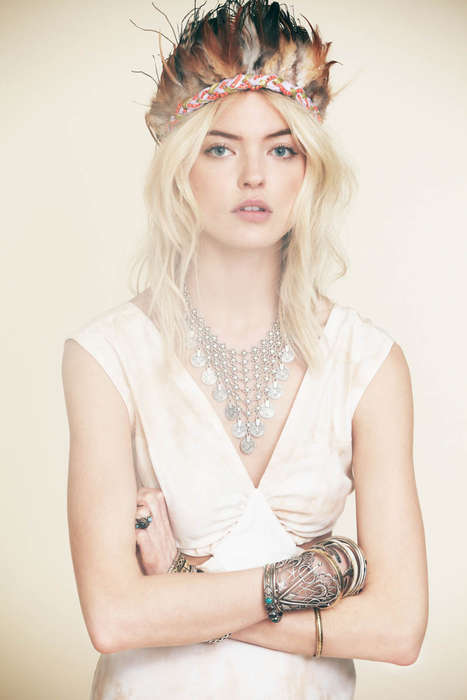 Hippie Music Festival-Inspired Lookbooks - The Free People Martha Hunt Series Captures Boho Style