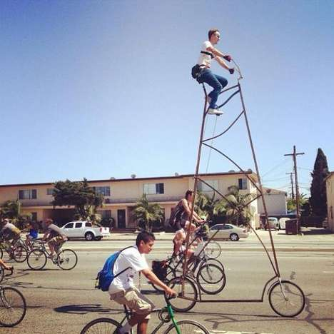 Ridiculous Stilt-Like Bicycles