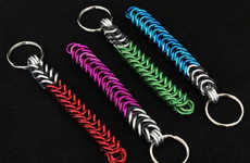 Intergalactic Chainmail Keychains - These Chainmail Lightsaber Keychains are in Another Galaxy