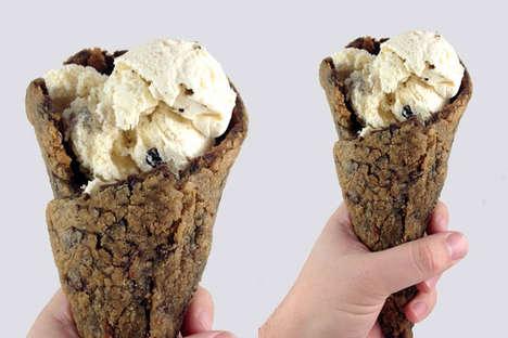 Cookie Ice Cream Cones