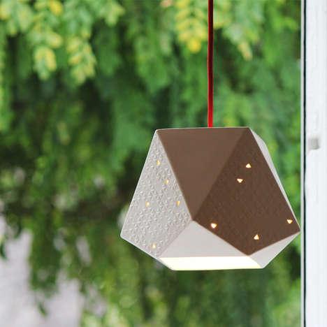 Ceramic Origami Illuminators