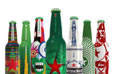 Remixed Brewery Branding - The Heineken Future Bottle Remix Challenge Revamps the Iconic Beer