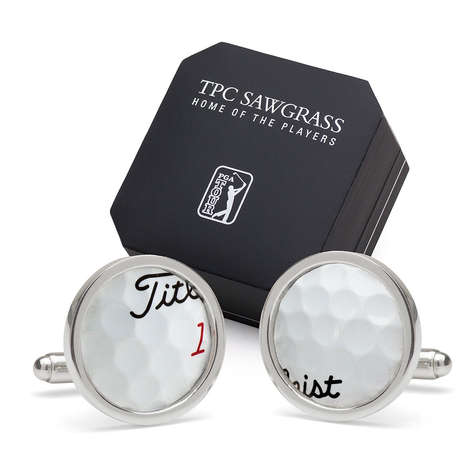 Upcycled Golf Ball Cufflinks