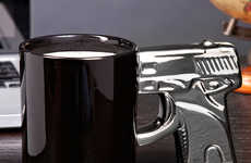 Gun Handle Coffee Mugs - Show Your Coworkers Who is Really Packing Heat