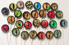 Realistic Designer Lollipops - These Custom Candies Are Edible Realistic Images