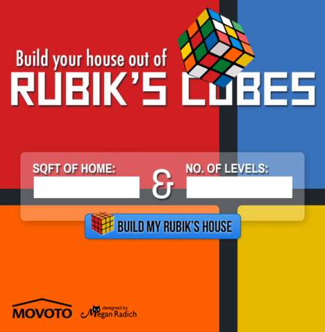 Puzzle Cube Home Calculators - This Online Calculator Tells Measures Houses in Rubik's Cubes
