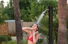 Poolside Solar-Powered Showers - Rinse Off After Having a Swim with This Amazing Creation