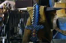 Replicated Gamer Swords - Tony Swatton Created the Minecraft-Based Diamond Sword for Fans of the Gam
