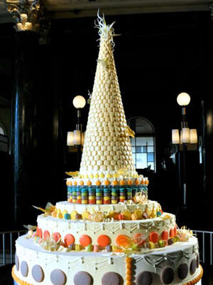 Massive Macaron Cakes