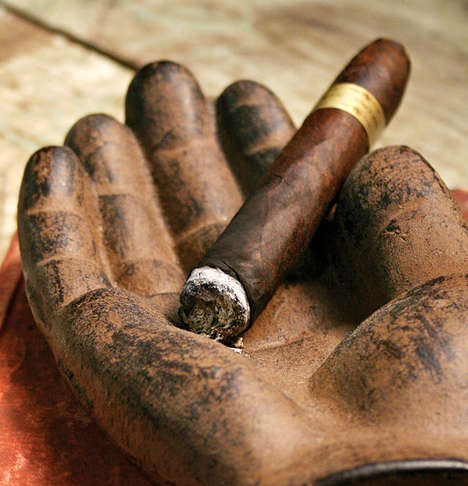 Hand-Shaped Cigar Ashtrays - This Cast Iron Tray Can be Used for Smoking or as an Ornament