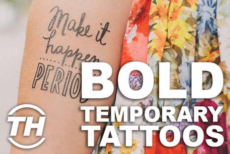 Bold Temporary Tattoos