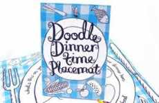 Art-Inspiring Table Mats - These Doodle Placemats From Anthropology Encourage Drawing During Dinner