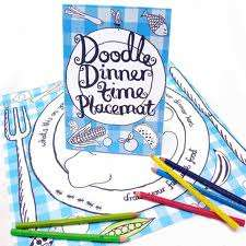 These Doodle Placemats From Anthropology Encourage Drawing During Dinner