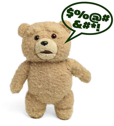 Vulgar Talking Plush Toys - ThinkGeek's Ted Teddy Bear is Certainly Not for Children