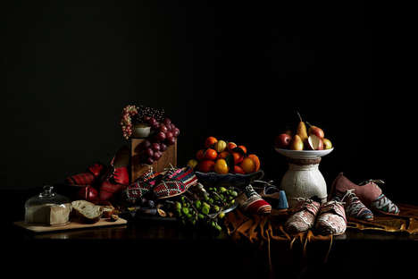 Painting-Inspired Shoe Ads - TEN & Co. Presents Footwear Through Still Life Photographs
