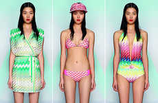 Neon Patterned Swimsuits - The Missoni Beachwear Summer Collection is Vibrantly Busy