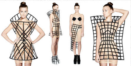 Gridded Corset Couture