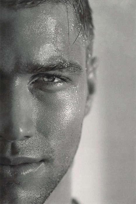 Sweat-Covered Model Closeups