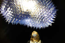Spiky Interactive Light Sculptures - Fiet by Toer Moves Like a Giant Amoeba