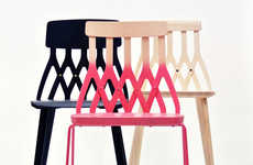 Subtly Intricate Seating - The Y5 Chair by Sami Kallio is Playfully Urban and Colorful