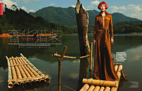 Chic Outdoor Adventure Editorials