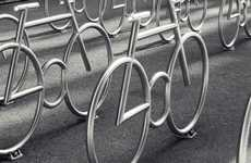 Bike-Shaped Bike Racks