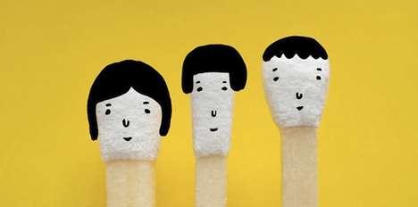Charming Kokeshi-Styled Matches