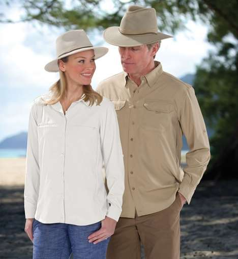 Ventilated Sun-Shielding Garments - This Sun Protection Shirt by Hammacher Keeps Your Burn Free